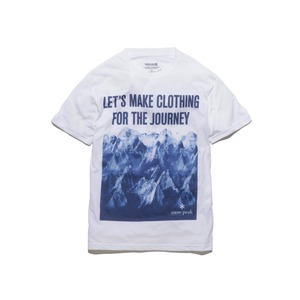 マウンテンプリントティーシャツ