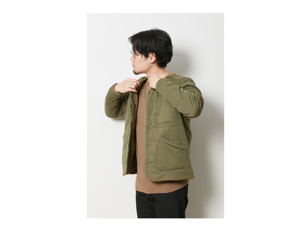 Flexible Insulated Cardigan XL Olive