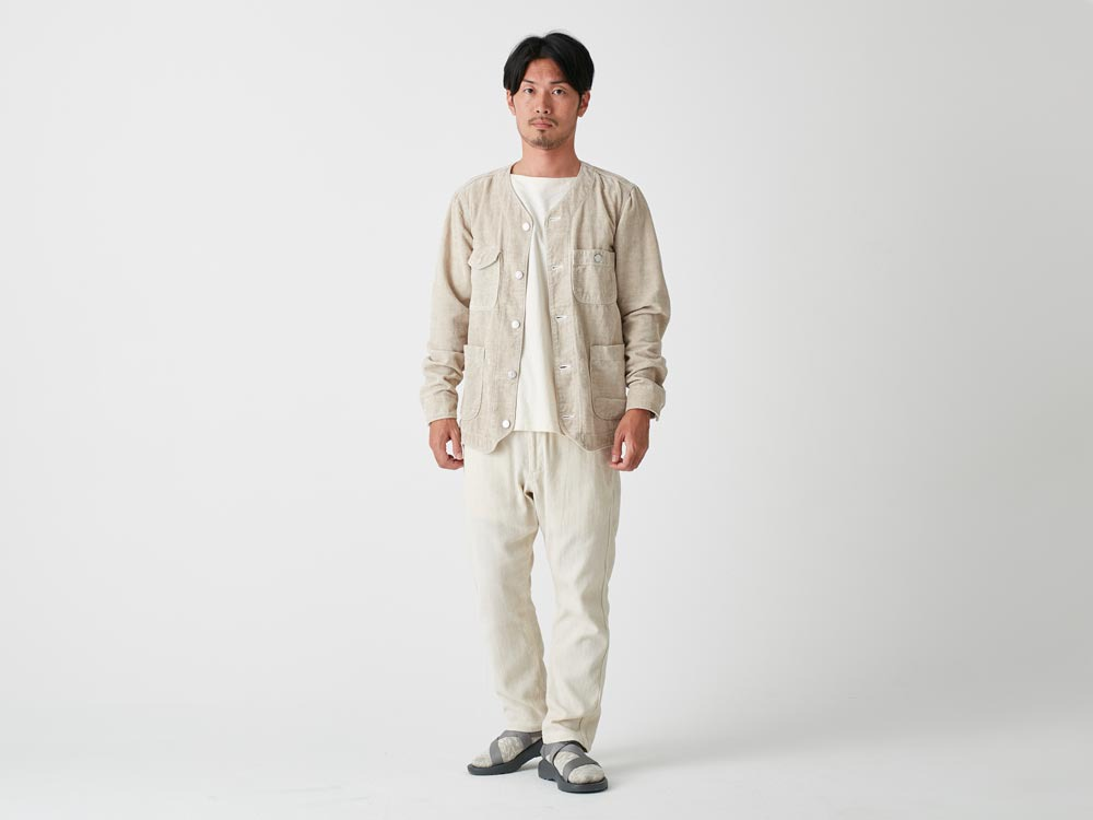 Spec Dyed OX Noragi Pants M Ecru2