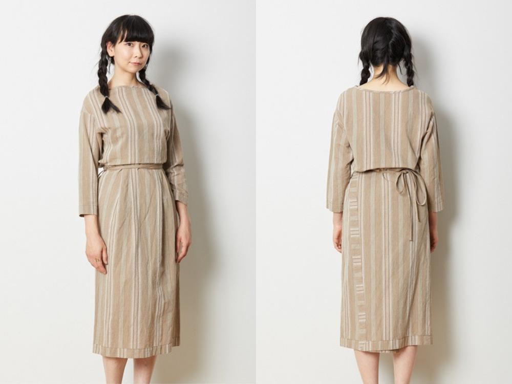 涼やか和紙ドレスセット-3-BK×BK