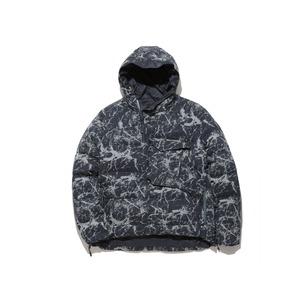 Indigo C/N Down Jacket (Marble Effect Print) PT