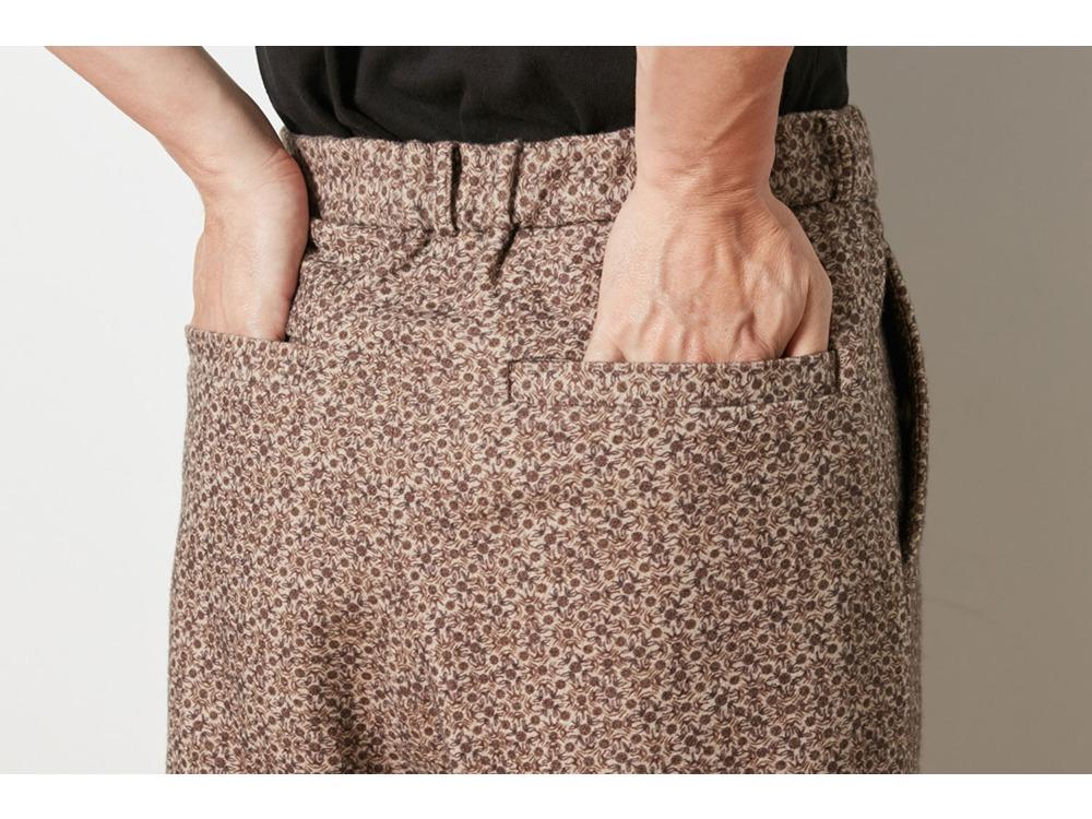 Printed Wo/Ny Pants S Beige