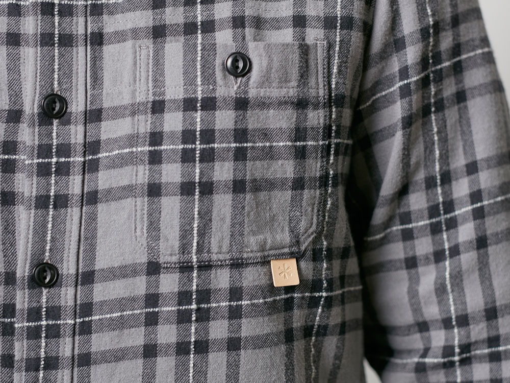 Check Flannel Shirt L Navy8
