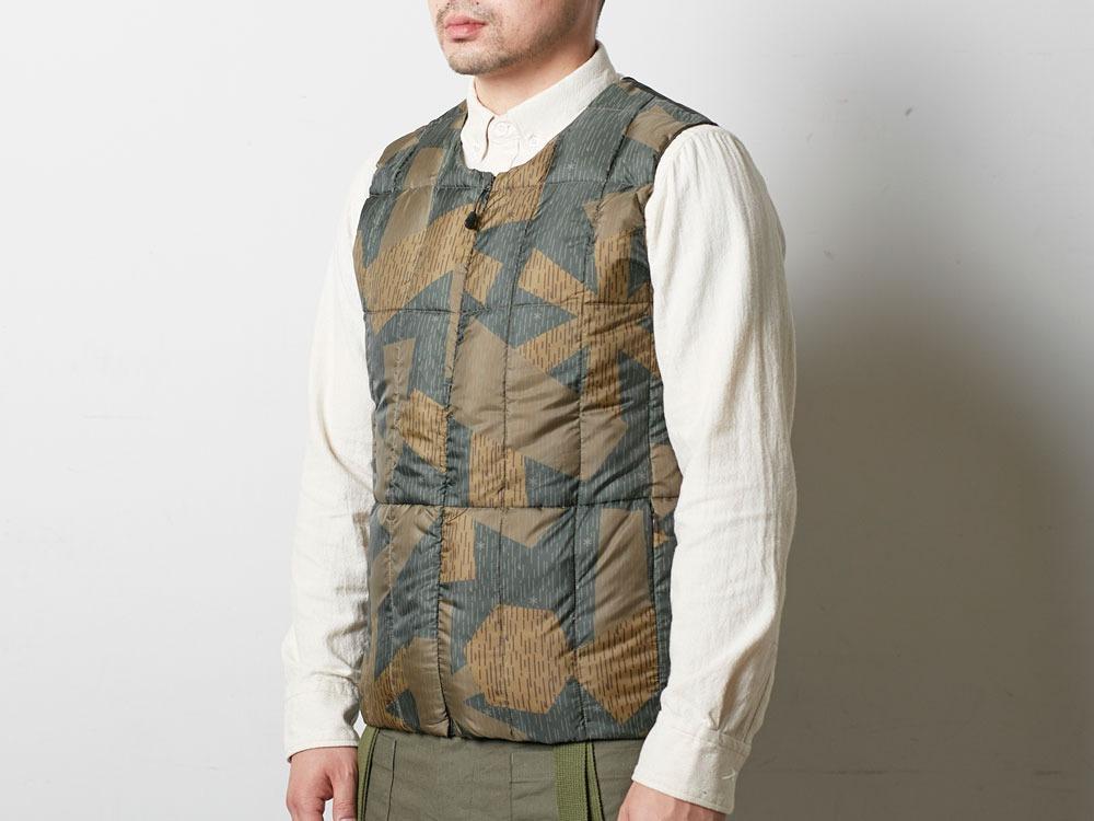 Printed Inner Down Vest 1 Olive4