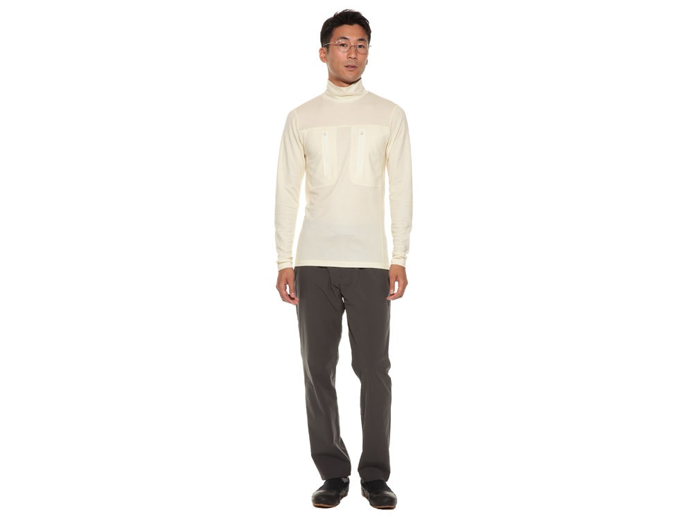 Wool Tactical High Neck S/XS Ecru1