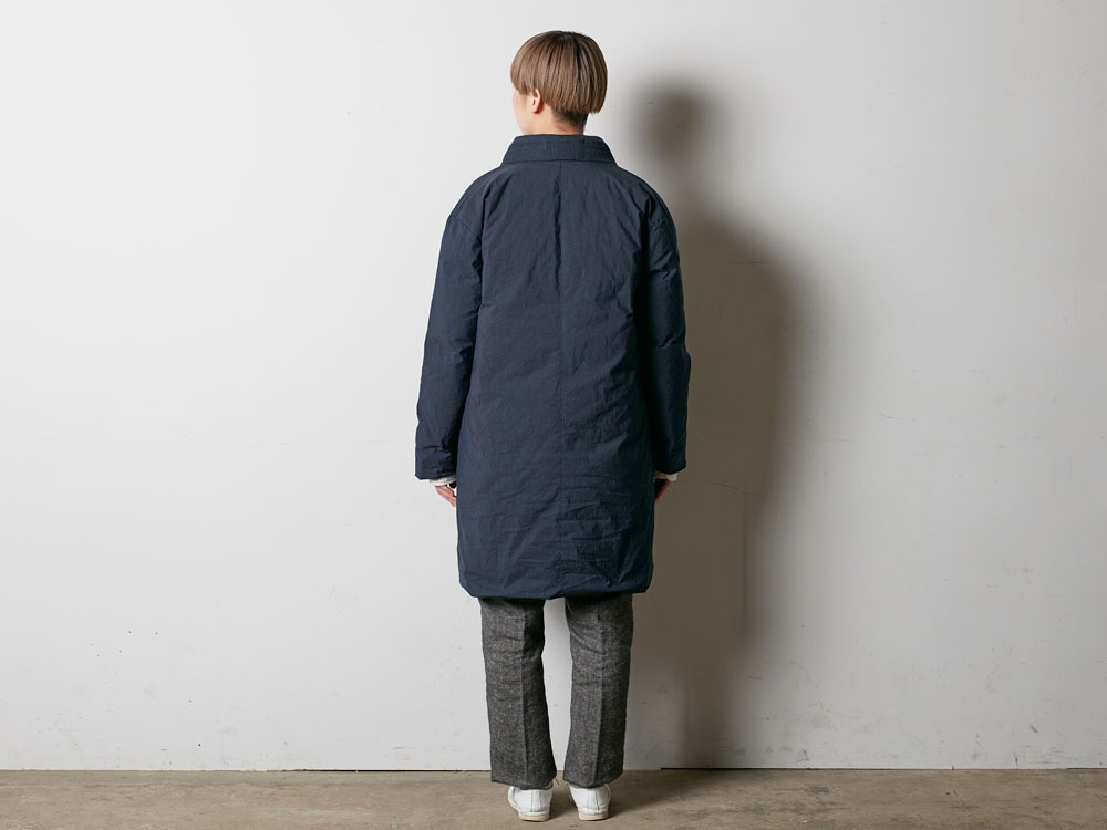 Indigo C/N Down Long Coat L Indigo3