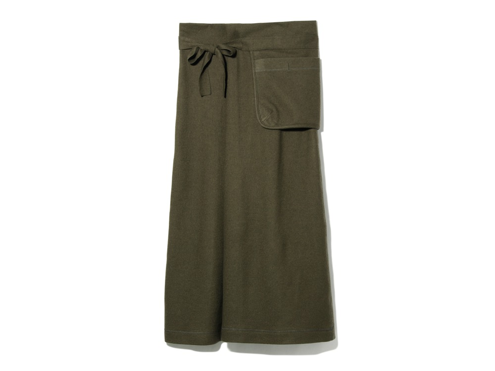 Wool Tight Knit Skirt 3 Olive0
