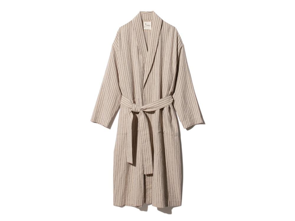 C/L Stripe Robe 1 Ecru