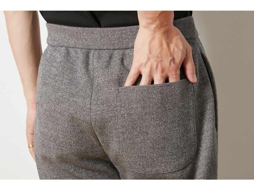 Wool Linen/Pe Pants Regular L Black