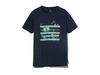 クイックドライティーシャツ (フィールドプリント)  XXL ネイビー
