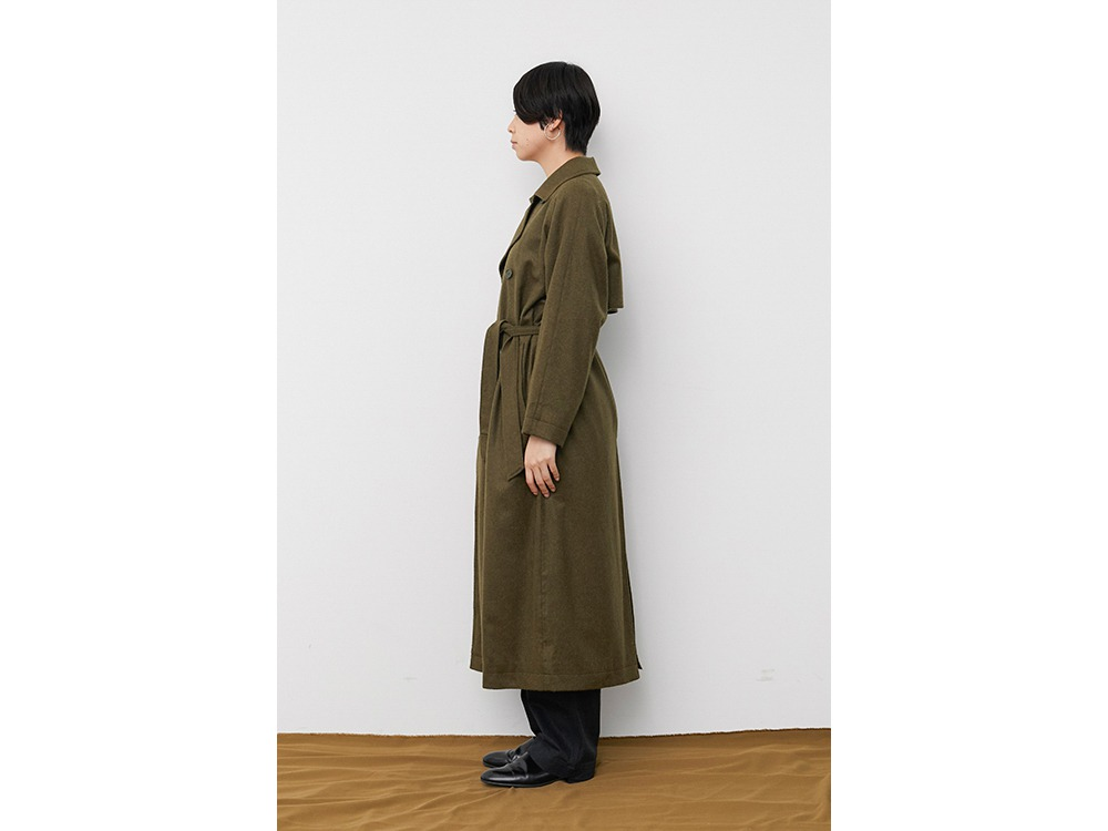 TIB Alpaca Trench Coat 2 Olive
