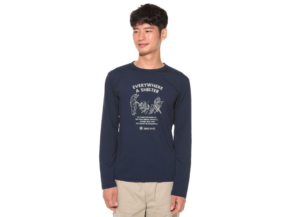 TAKIBI Long Sleeve T shirt 1 Navy2
