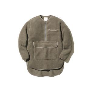 Thermal Boa Fleece Pullover M Khaki