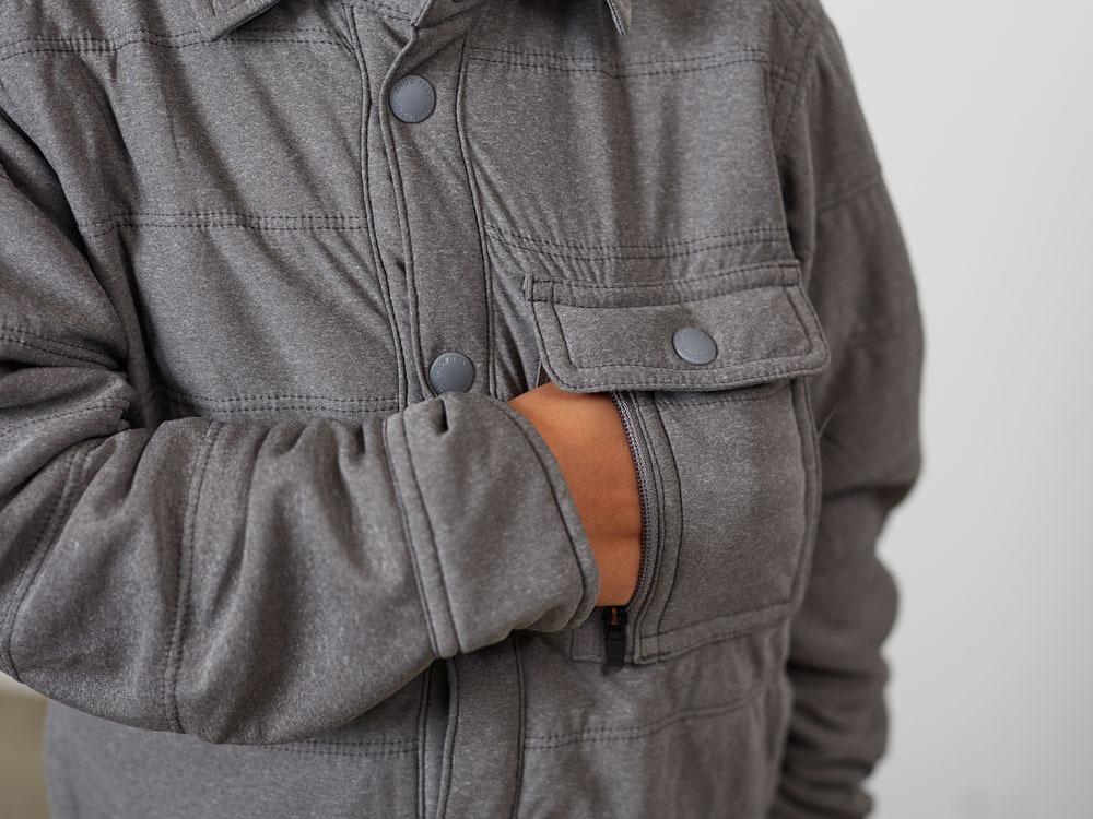 キッズフレキシブルインサレーションシャツ  2 ブラック
