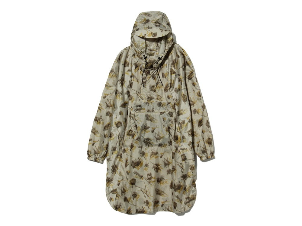 Printed Over Poncho 1 Beige0