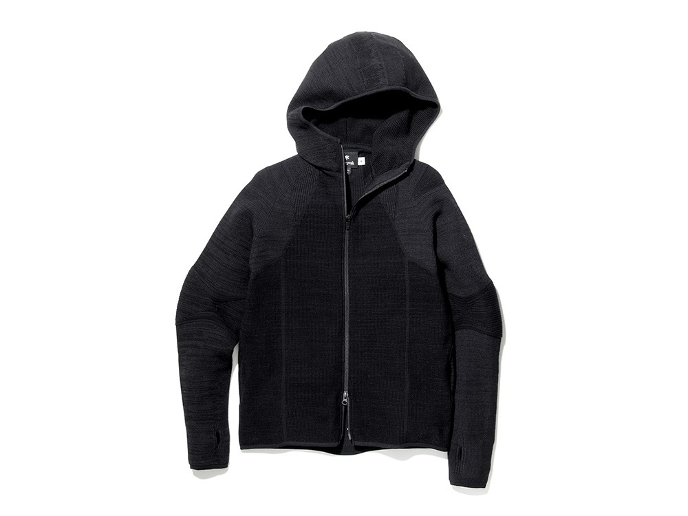 ホールガーメントニットジャケット M ブラック