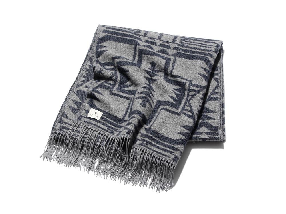 Shetland Wool JQ BlanketOneSizeNavy
