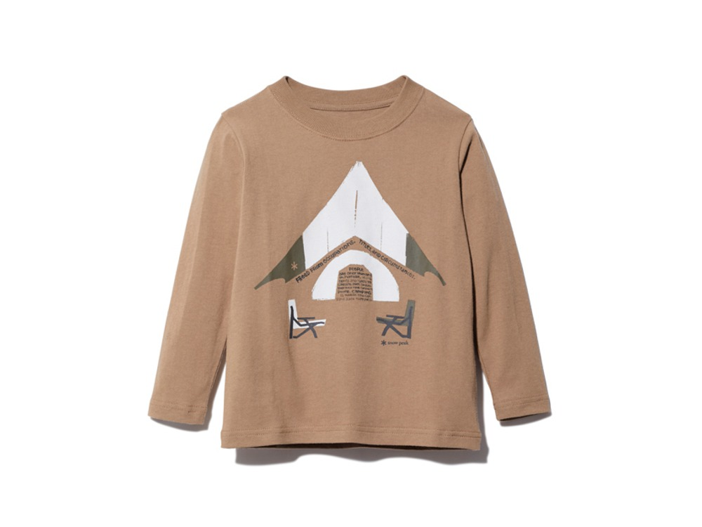 Kids Relaxed Camping Printed Tee 3 BR