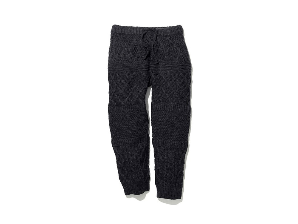 Alpaca Knit Pants XL Black