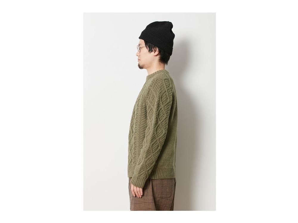 Alpaca Knit Pullover M Olive