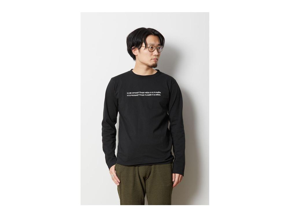 Typography ロングスリーブ Tシャツ 1 Black