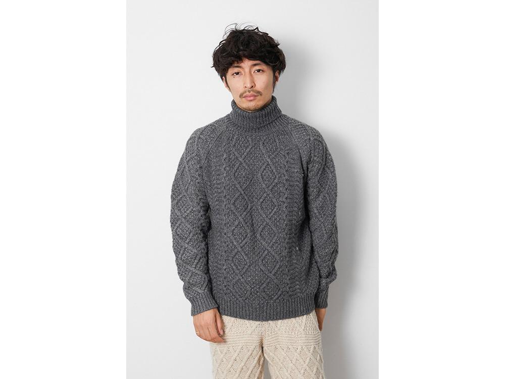 Alpaca Knit Turtleneck Pullover 1 Grey