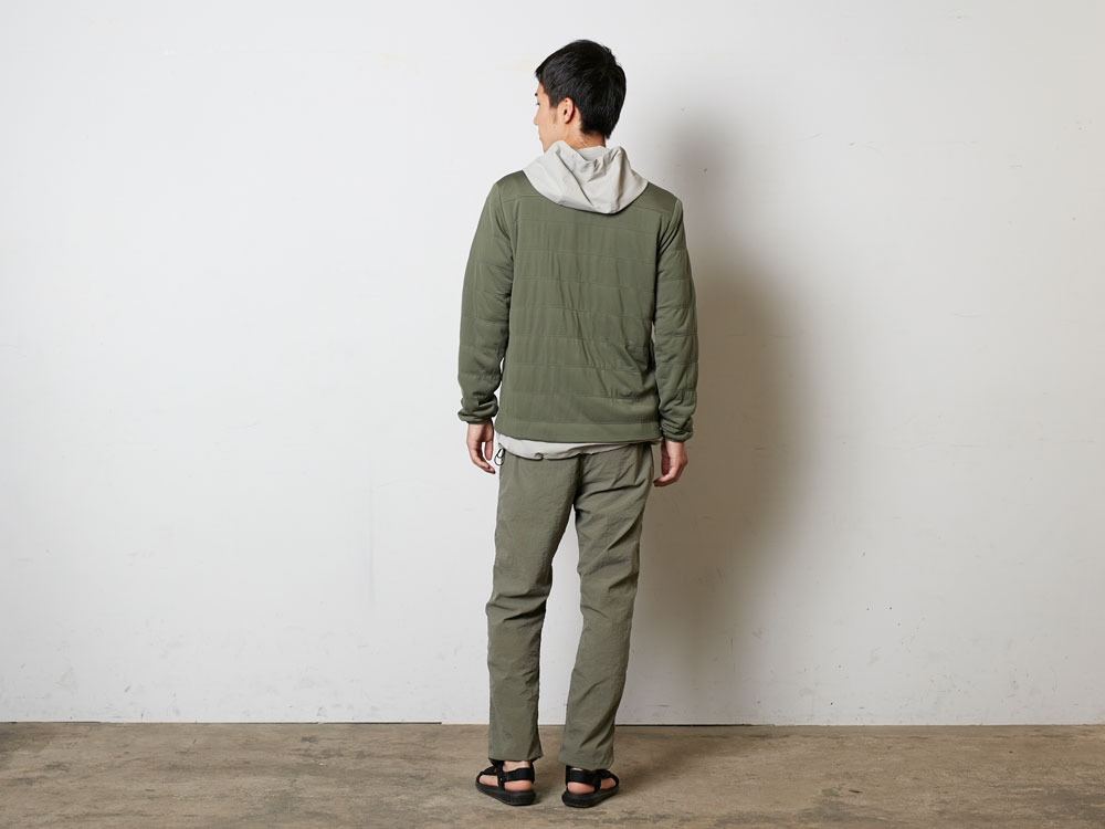 FlexibleInsulatedCardigan  M Olive3
