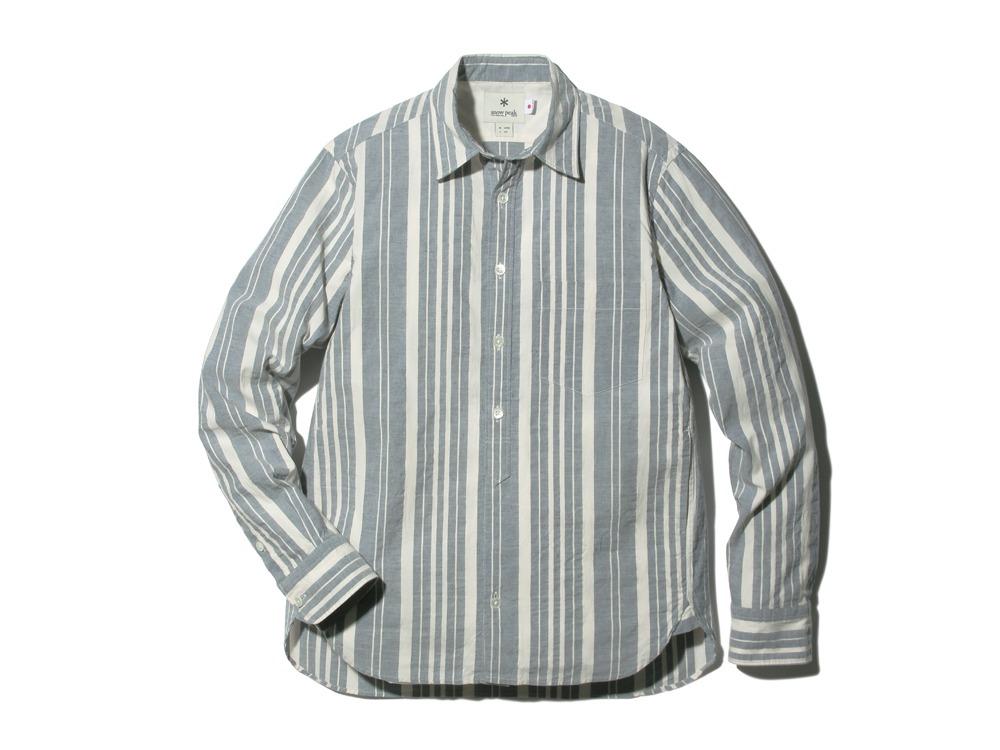 OrganicStripedShirt L Ecru0