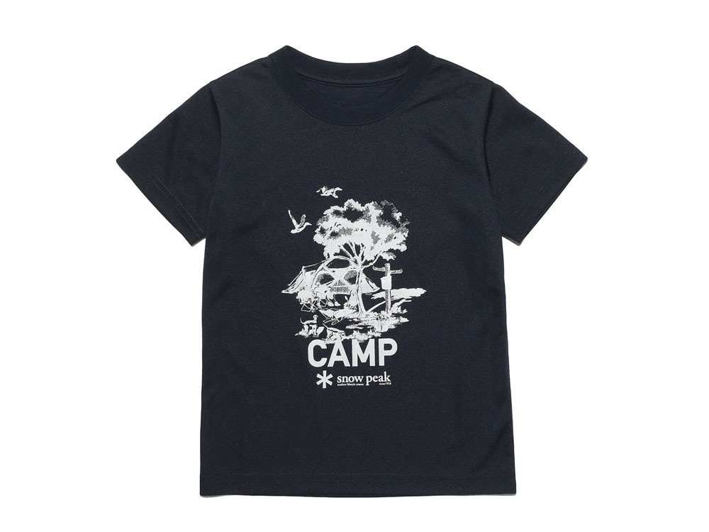 Kid's Printed Tshirt:Camp Field 1 Navy0