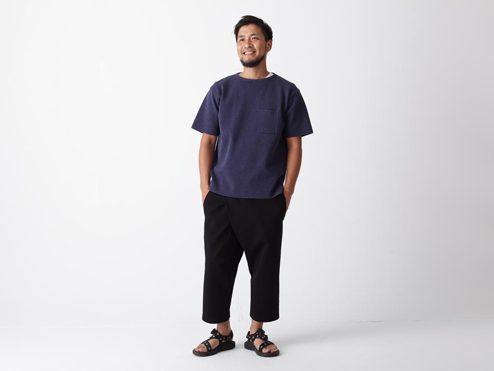Cotton Ponte Thai Pants 1 Navy1