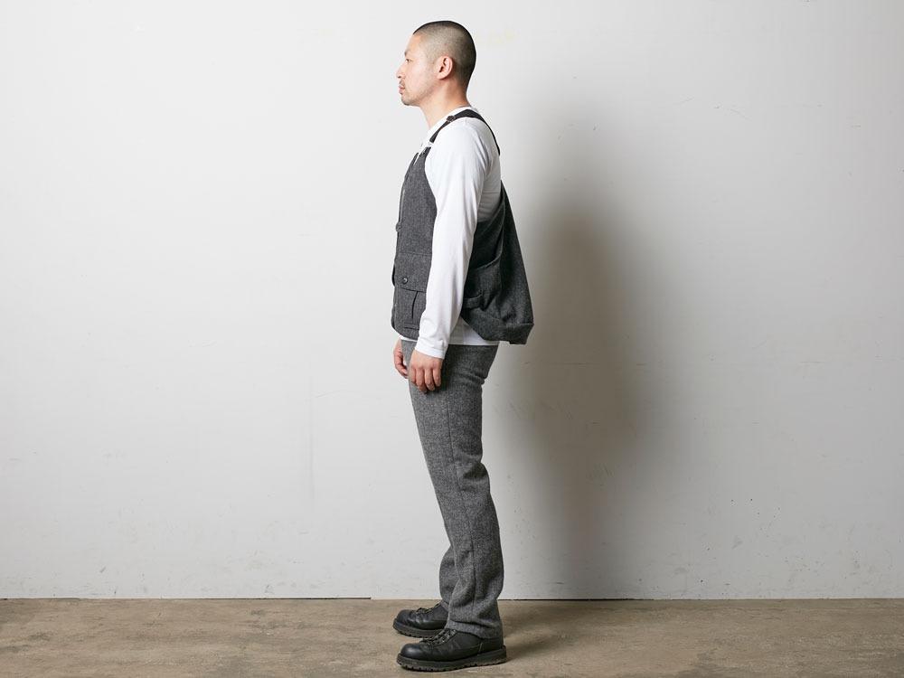 Wool TAKIBI Vest M Grey3