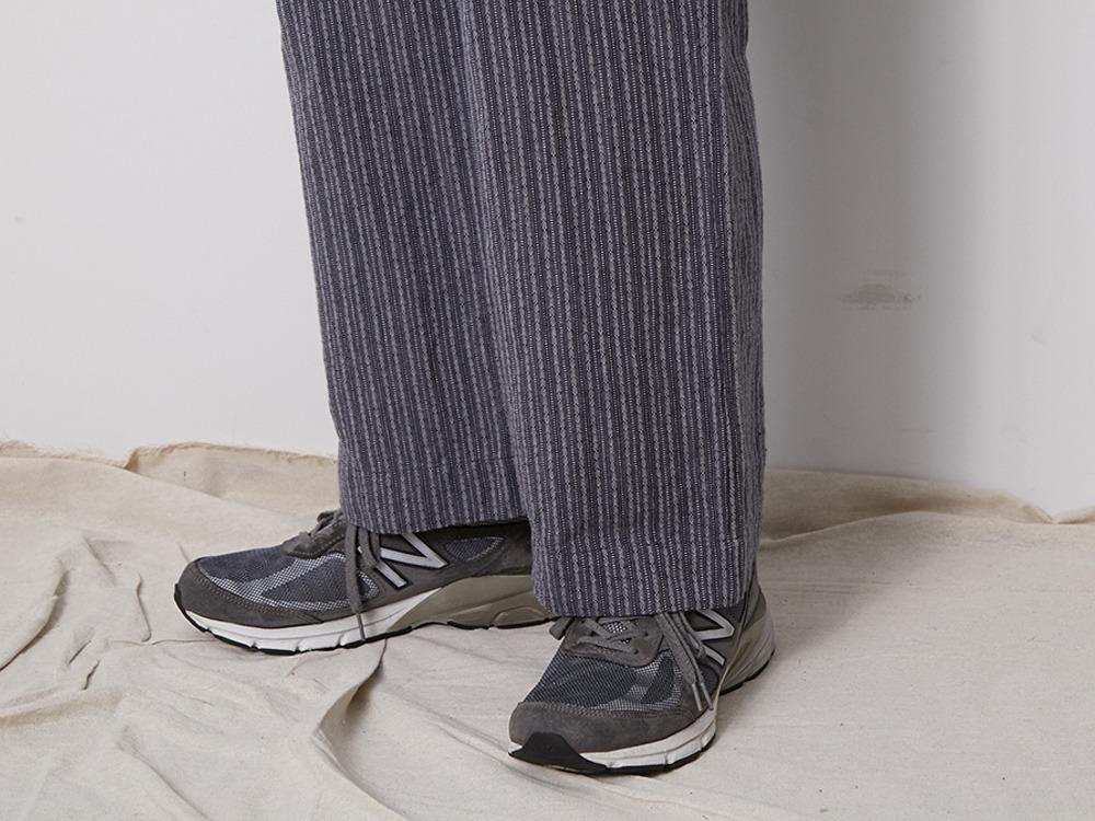 C/L Dobby Stripe Pants M Navy