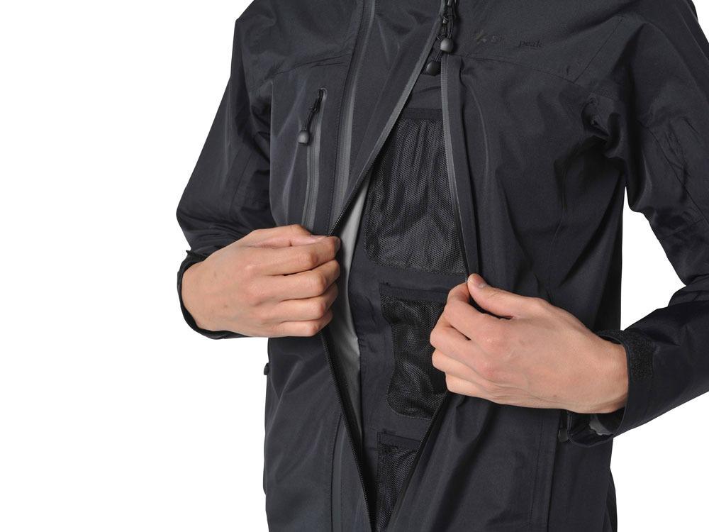 3L Rain Jacket M Black4