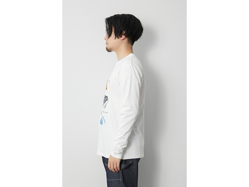 Light your Fire L/S Tee XL White