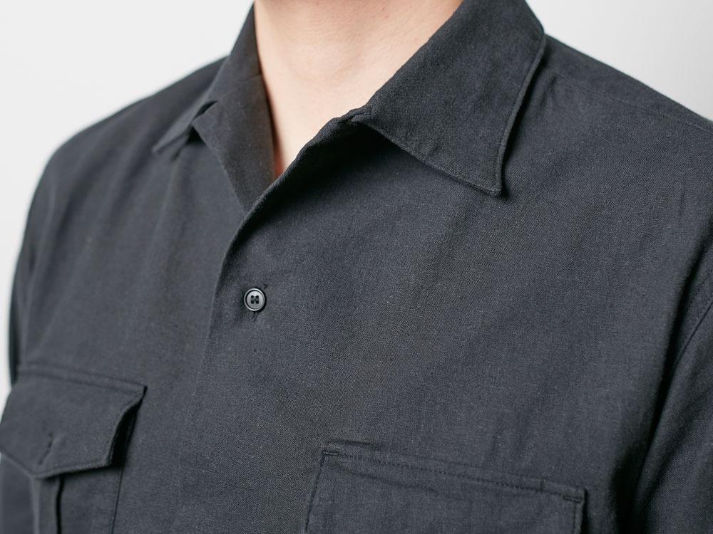 Safari Linen Shirt S Olive6
