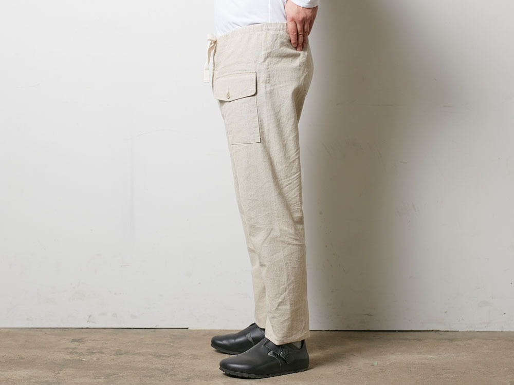 Safari Linen Pants S Olive3