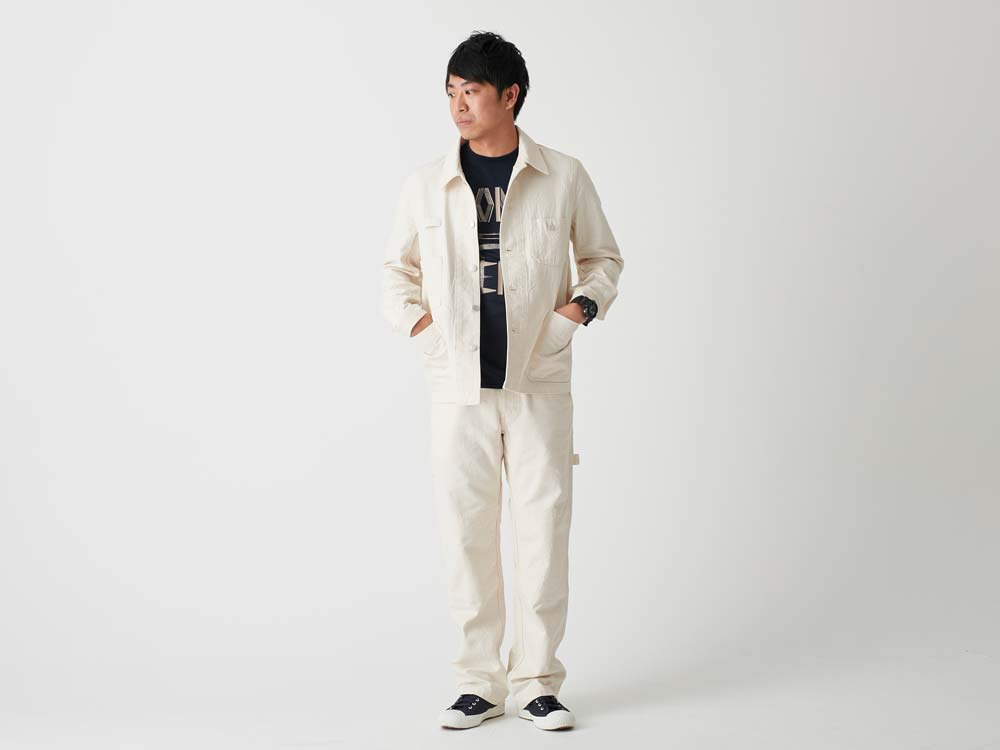 Okayama OX Work Jacket L Ecru1
