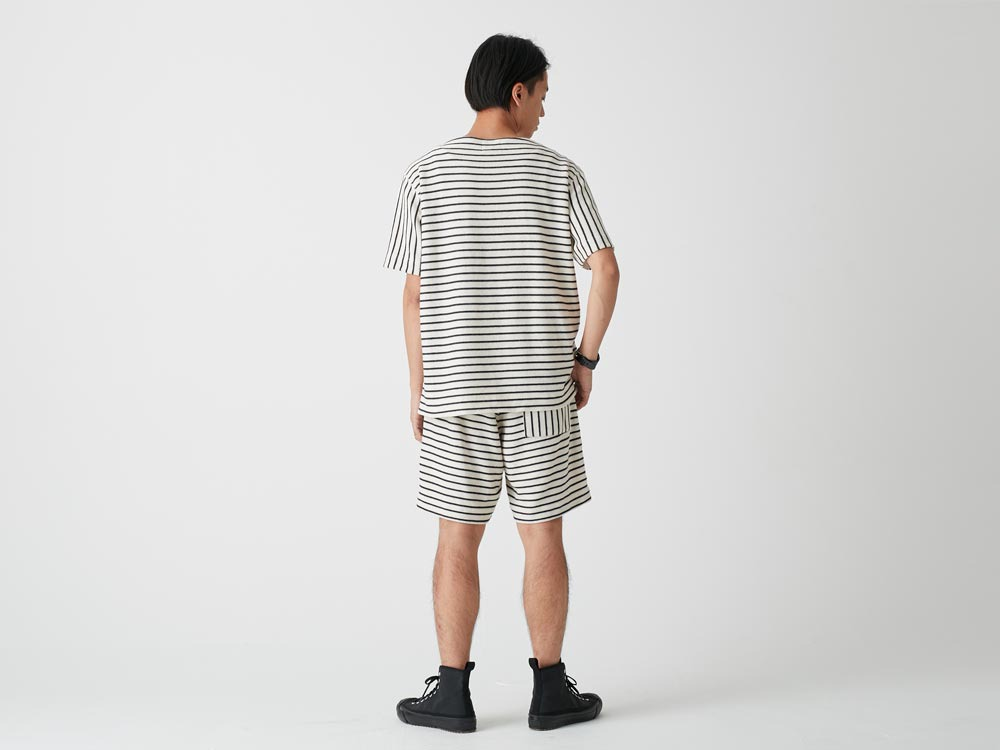 C/L Striped Shorts 1 Ecru x Navy4