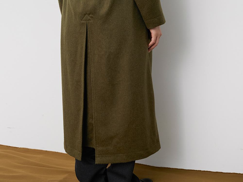 TIB Alpaca Trench Coat 2 Grey
