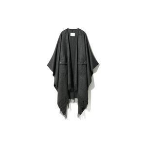 Poncho Blanket One Dark Grey