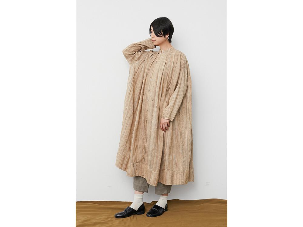 Hand-woven Wild Silk Tuck Coat 1 NT