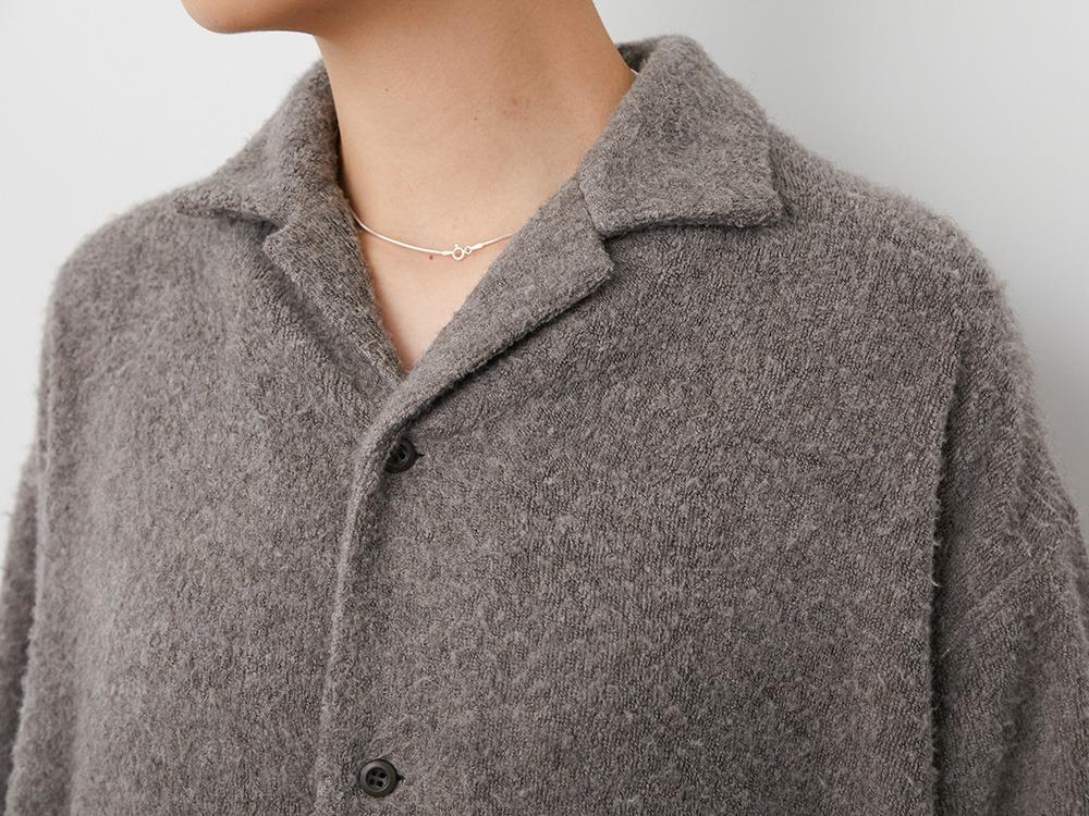 Yak Pile Long Jacket 2 Grey