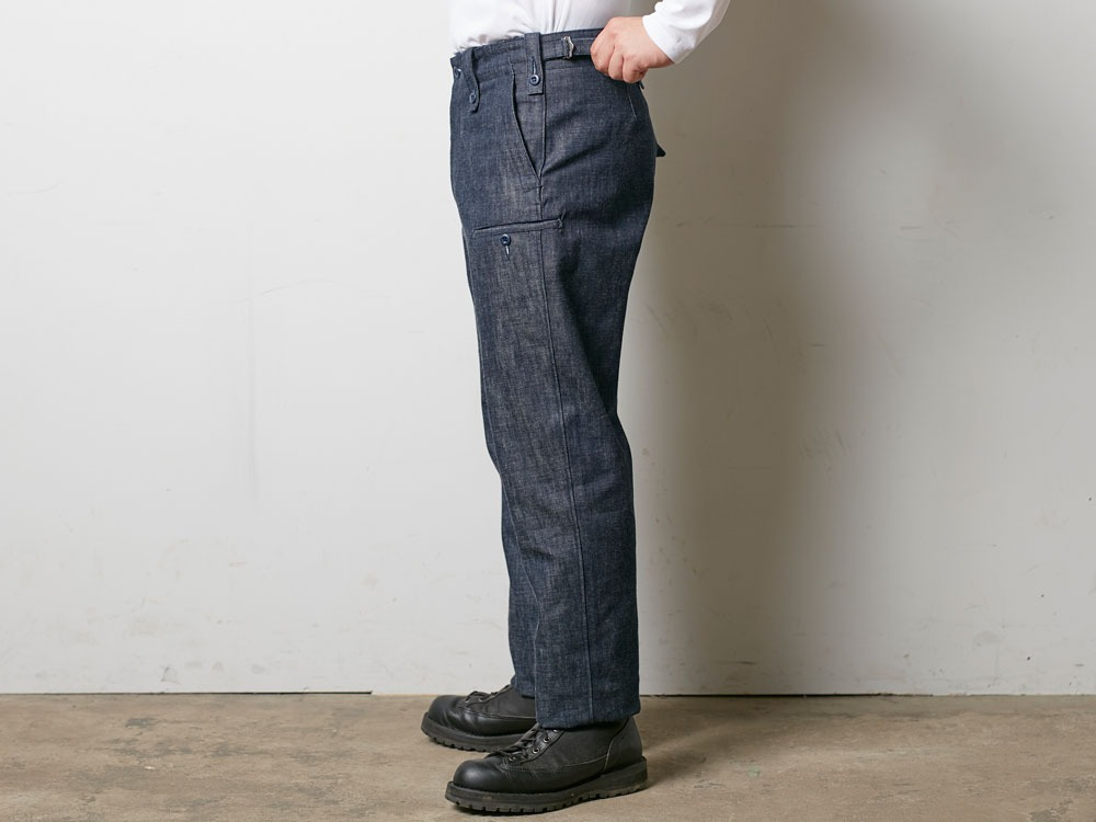 Denim Military Pants 1 Indigo3