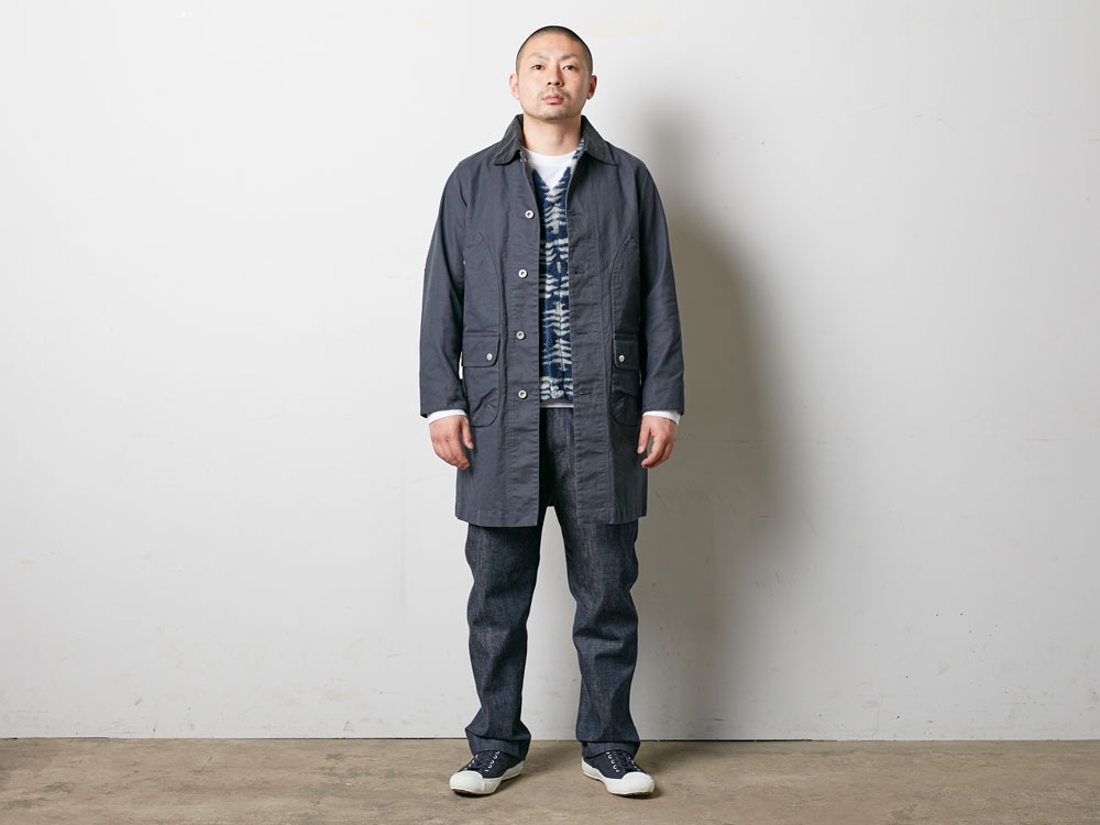 TAKIBI Shop Coat S Navy2