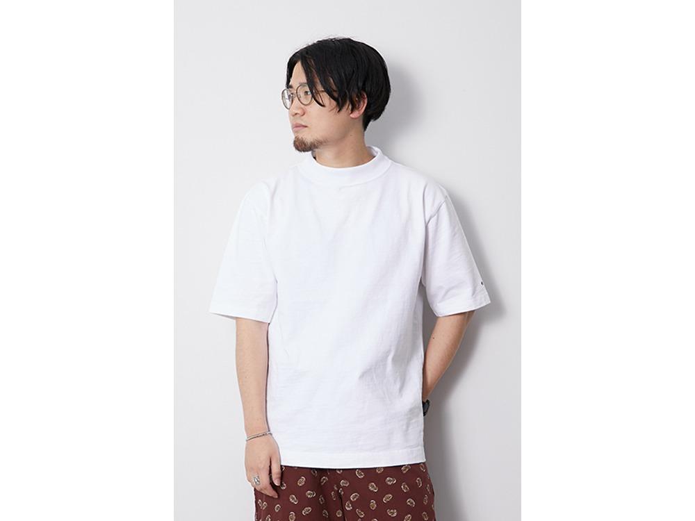 Heavy Cotton Mockneck Tshirt M Beige