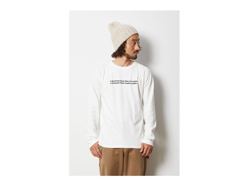 Typography ロングスリーブ Tシャツ XL White
