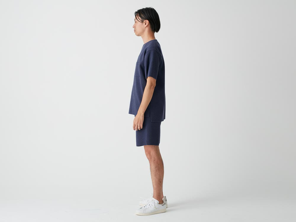 Cotton Dry Pullover L Navy2