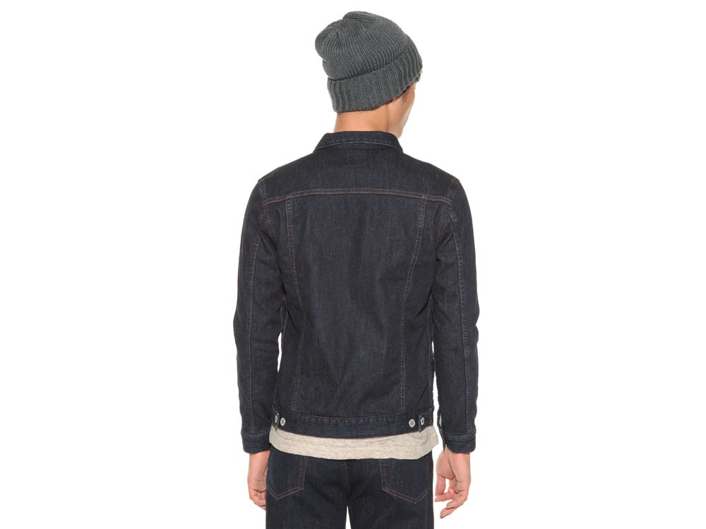 Pile Denim Jacket S Hard Wash4