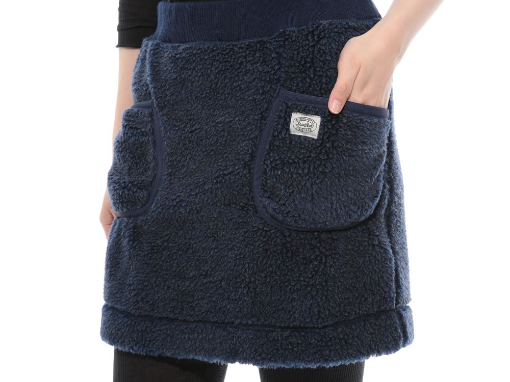 Soft Wool Fleece Skirt 4 Blue5