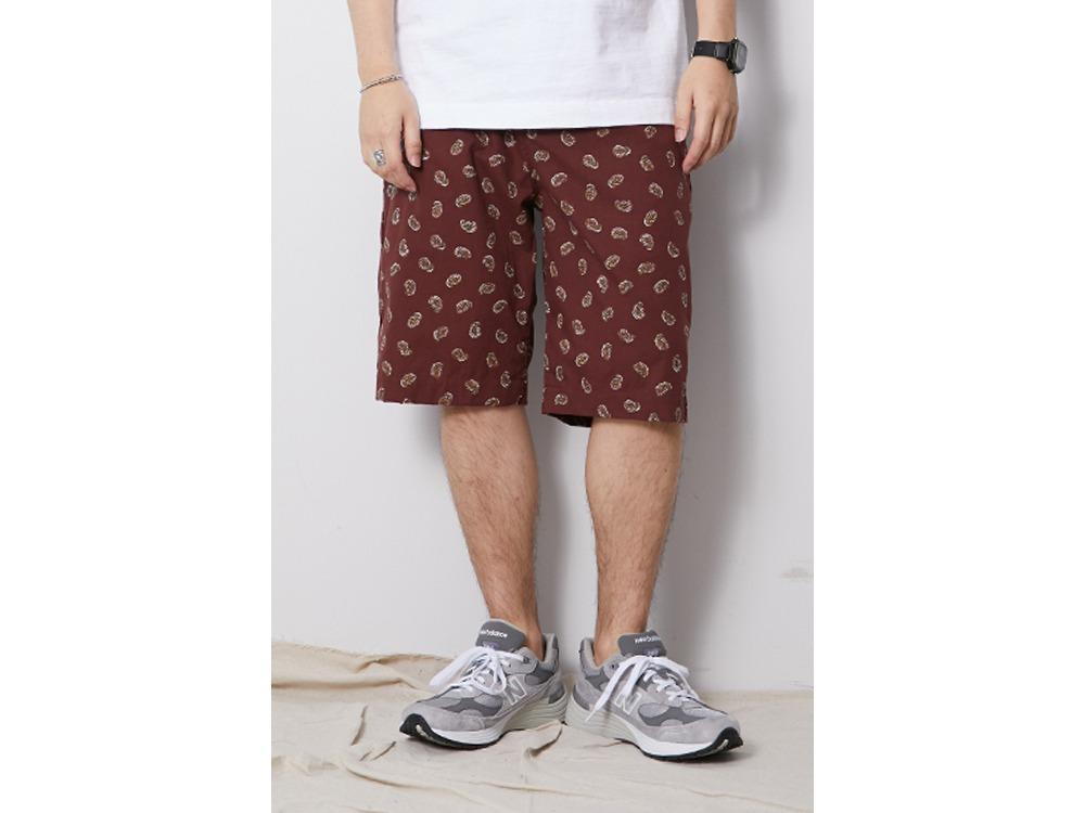 OG Cotton Poplin Paisley Shorts M Beige